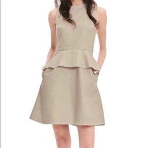 Banana Republic Linen Blend Peplum Dress Size 2